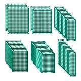 42 Piezas Placa de Circuito Impreso Perforadas Doble Cara Placas de Prototipos 2x8 3x7 4x6 5x7 6x8 7x9 cm para Soldadura Bricolaje Proyecto Electrónico