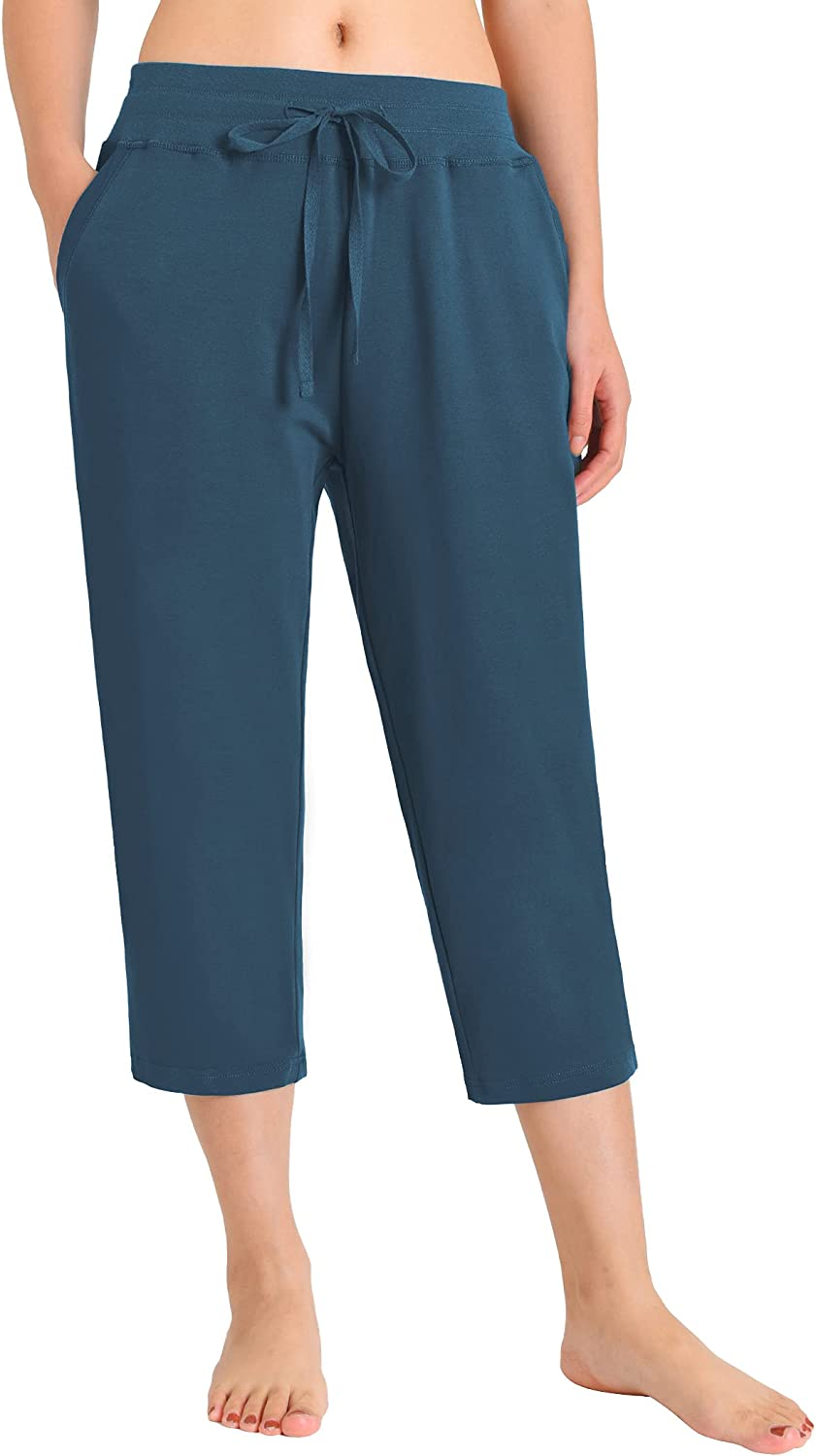 Weintee Fashionable Women's SEAL limited product Cotton Capri Pants Pockets with
