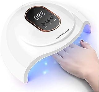 Lámpara Secador de Uñas 54W LED UV Nails Secadores de uñas de secado de la lámpara de la lámpara for el curado UV Gel Uña de visualización polaco con la detección de movimiento del LCD Digital