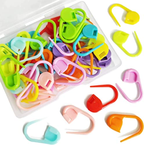 50 Pieces Colorful Knitting Markers Crochet Clips Crochet Pins Bulk Stitch Markers Locking Stitch Knitting Place Mark...