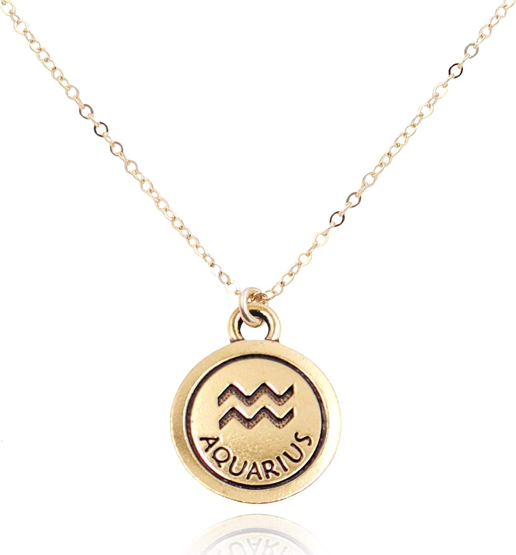 MaeMae Zodiac Astrology Horoscope Charm Necklace | Dainty Cable