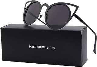 Cat Eye Sunglasses Round Metal Cut-Out Flash Mirror Lens Sun glasses S8064