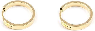 Orecchini a cerchio da donna - oro giallo 18K (750)