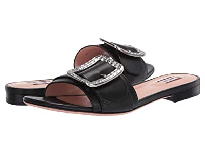 Bally Janna Flat-Crystal/0 (Black) Women