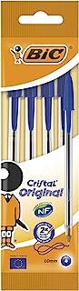اقلام كريستال اوريجنال من بيك،ازرق - 4 اقلام