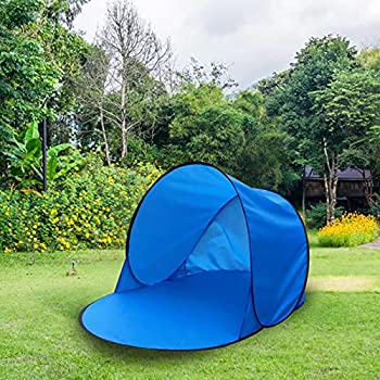 Gusengo Tente De Plage Pop-up, Tente D'ombrage Portable, Portable Pop Up Beach Tent, Abris De Plage Automatic, Anti UV Sun Shelter for Kids and Family in Beach Garden Camping Fishing Picnic Hiking