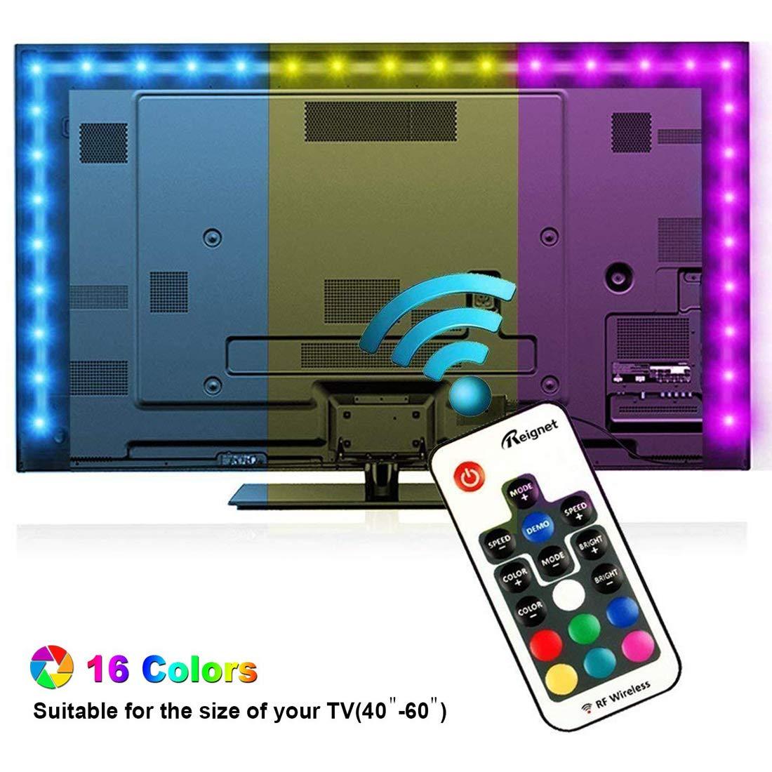 Tiras LED Iluminación 200cm, Reignet Tira de LED para HDTV de 40 ...