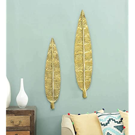 BLUE ZONE CRAFTS metal Wall Hanging, Gold, Abstract, Standard