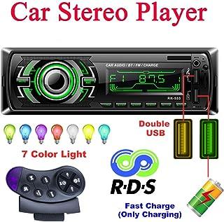 comprar comparacion Bosszi Stereo Car Radio, Car Radio 4x60W Bluetooth 1Din FM Radio, Reproductor de MP3 Bluetooth Manos Libres para Automóvil...