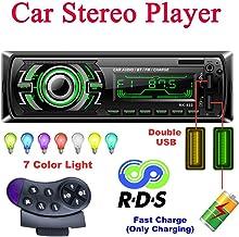 Bosszi Radio Coche Autoradio Bluetooth, 4 x 60 W 1 DIN FM