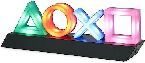 Paladone Playstation Icons Light Lampa Ozdobna na Biurko, Tworzywo Sztuczne, Wielokolorowy, 31 x 7 x 11 cm