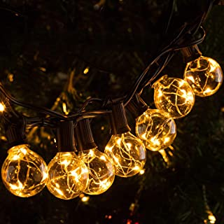 Urbansential 30Ft Outdoor LED String Lights 30 +2 pcs G40 Globe Bulbs Waterproof Extendable String Lights with Remote Control, for Patio Garden Backyard Porch Party and Wedding, UL Listed