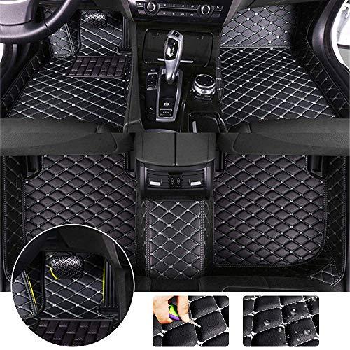 All Weather Floor Mat for BMW 320i 328i 335i F34 2013-2019 GranTurismo Full Protection Car Accessories Black & Beige 3 Piece Set