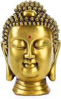 Laughing Buddha Statue, Pure Brass Sculpture, Desk Decoration, Contemporary Art Statue, Feng Shui Crafts, Buddhist Supplies