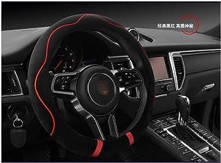 2015 KAIDDRGFH Couvre Volant de Voiture en Cuir synth/étique Noir pour BMW X1 2014