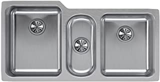Elkay Lustertone ELUH4020 Triple Bowl Undermount Stainless Steel Sink