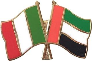 Italia & U.A.E. Emirati bandiera dell'amicizia, preciso Spilla placcata in oro