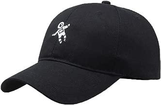 Limsea Unisex Baseball Hat Cap Fashion Astronaut Emberoidery Solid Breathable Black