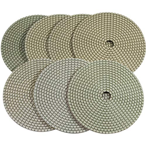 Stadea PPD102N 5' Dry Diamond Polishing Pads for Concrete Terrazzo Travertine Marble Floor Edges Countertop Polishing - Grit 50, Series Super C