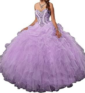 Women's Quinceanera Dresses 2019 Prom Ball Gown Sweet 16 Dress Ruffles Plus Size D230