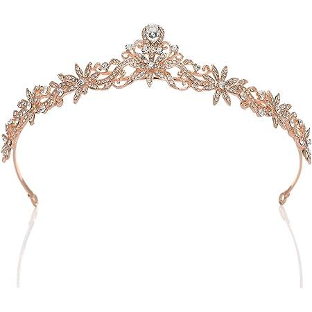 Rose Gold Bride Tiara Wedding Tiara Bride Shower Gift Statement Head Piece Goddess Tiara Greek Classic Style Tiara Rose Hair Piece