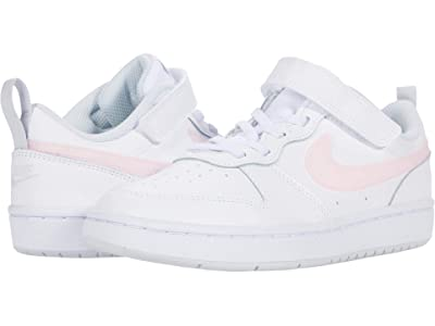 Nike Kids Court Borough Low 2 MWH (Little Kid) (White/Arctic Punch/Light Armory Blue) Kid