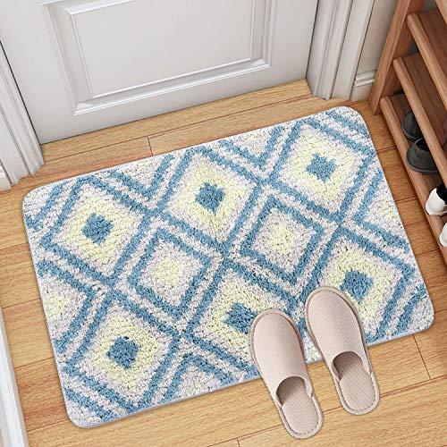 Tappeto da bagno, tappeto da bagno assorbente antiscivolo, soffice tappeto in microfibra, tappeti doccia in ciniglia morbida assorbente d'acqua, lavabile in lavatrice (50 x 80 x 2cm)