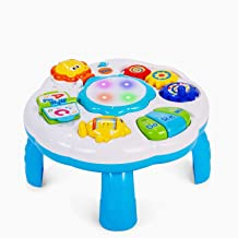 Dahuniu Baby Activity Table Baby Musical Learning Toy 6 to 12 -18 Months Old Boy Girls Activity Center for Toddlers 1-3 Ye...