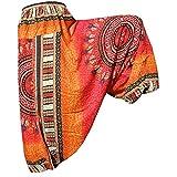 PANASIAM - Pantaloni Aladino in stile maoi (produzione limitata), in molti colori, vestono dalla M alla L Colore: arancione. L