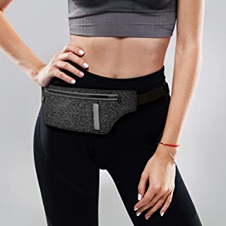 Wears Sports Fitting Belt Pouch, Slim Waist Bag, Ultra Light Bounce-Free Running Pack for iPhone 11 Pro Max Samsung Galaxy Note10+ Plus in Walking Jogging Marathon Cycling Gym