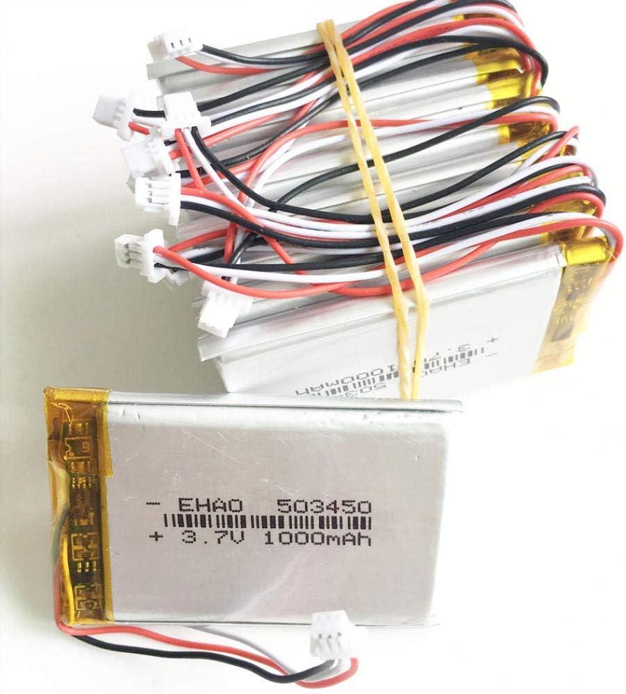 GzxLaY New York Mall High-Performance Battery Backup New Shipping Free Shipping 3.7V 1000mAh JST 1.0mm 3p