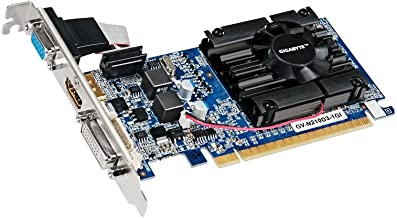 Gigabyte GeForce 210 1GB DDR3 PCI Express 2.0 DVI-I/D-SUB/HDMI Low Profile Graphics Card GV-N210D3-1GI Rev3.0