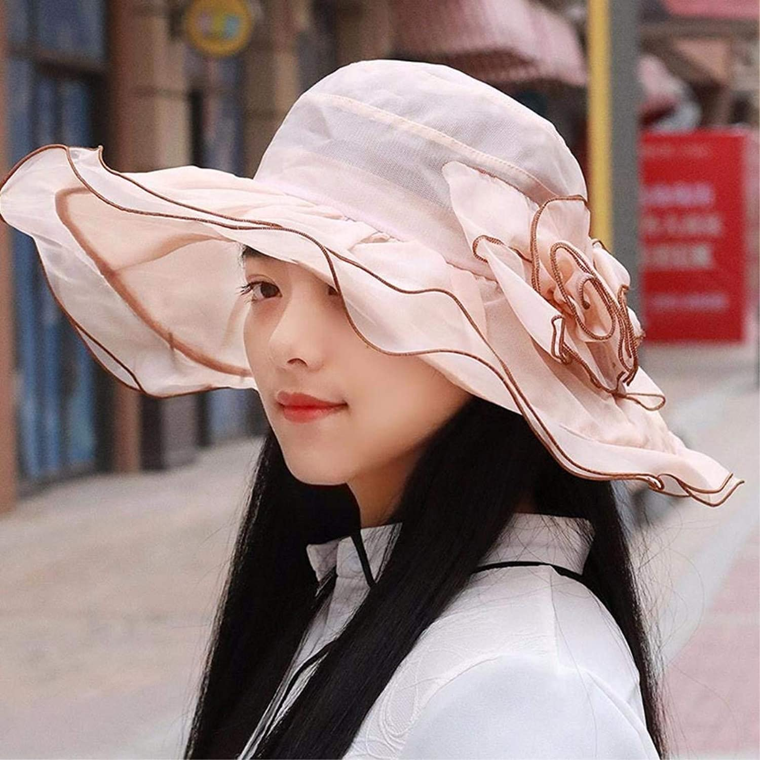 Dianye Hat, summer hat, summer hat, can be folded and breathed along the sun beach cap
