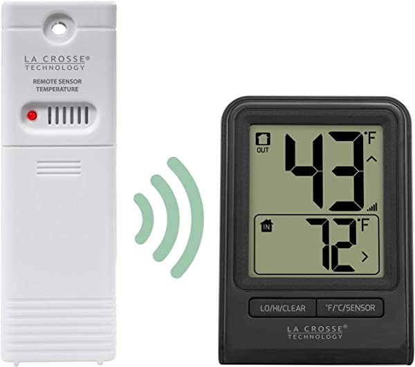 La Crosse Technology Wireless Thermometer Black