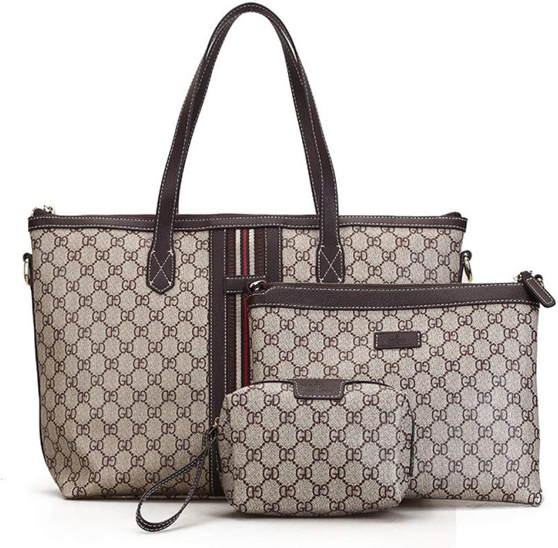 Shoulder Bag,Women Fashion Vintage Printing Clutch Handbag,Female Messenger Bags Ladies Leisure Crossbody 3Piece Set