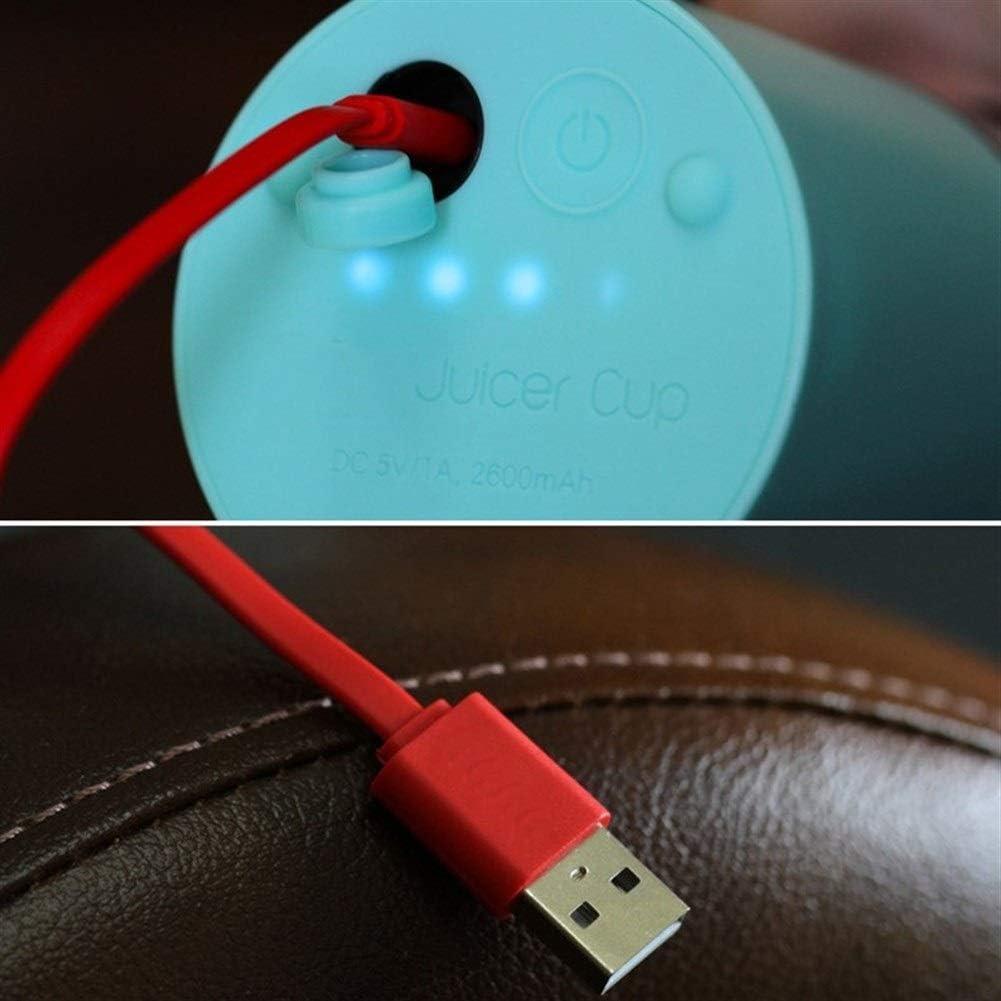 kaige 500ml USB Portable Cup Juicer électrique Rechargeable Automatique Bingo légumes jus Maker Maker Outils Blender Cup (Couleur: Rouge) WKY (Color : Red) Red