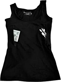 Clever Travel Companion Unisex-adult Tank Top with Two Secret Pockets