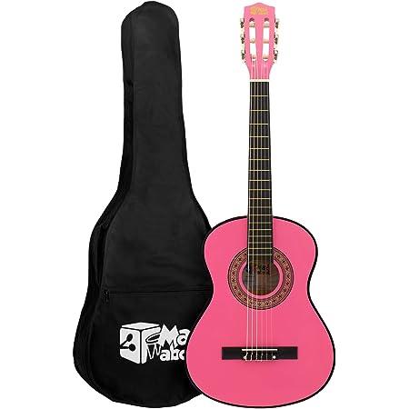 Mad About MA-CG09 Guitare Classique avec Étui de Transport, Sangle, Médiator et Cordes de Rechange, de Taille 1/2, Rose