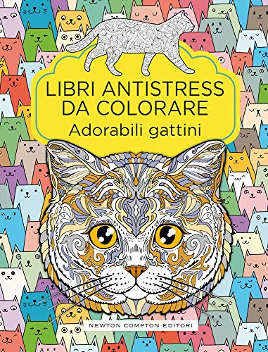 Libri antistress da colorare. Adorabili gattini