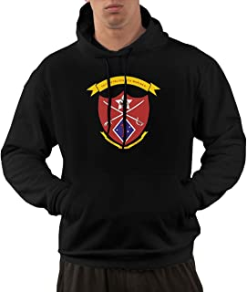 1st Marine Division 1st Battalion 5th Marine Regiment Men's Fashion Pocket Hoodie