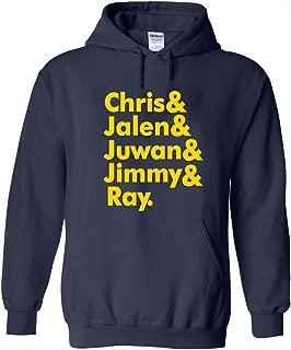 Navy Michigan Jalen, Chris, Juwan Hooded Sweatshirt