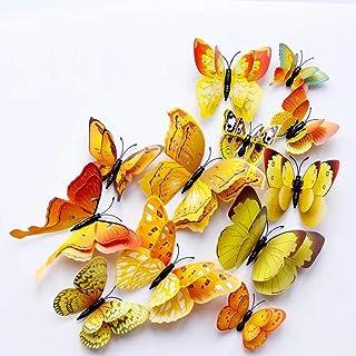 FFAA Pegatinas de Pared de Mariposa extraíbles 3D Art Wall Mural Stickers calcomanía para decoración del hogar y la habita...