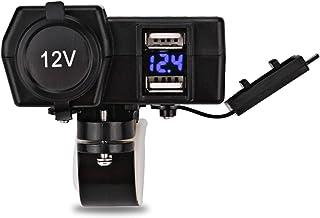 MSFDOG Waterdichte Motorcycle ATV Scooter Charger LED Voltmeter Motherbike Sigarettenaansteker Dual USB-socket Telefoon GP...