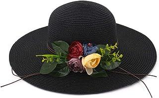 SHENTIANWEI Fashion Floral Women Sun Hat Straw Hat Big Wings Beach Hat Outdoor Summer Hat