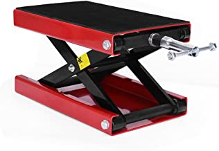 YITAMOTOR Wide Deck Dilated Center Scissor Lift Jack Hoist Stand-1100 LB Capacity