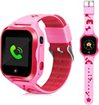 DUIWOIM Kid Smart Watches Waterproof Call Phone GPS Tracker Smart Watch Accurate with SOS and Pedometer with Camera Game Watch Children Electronic Learning Toys Boys Girls Best Birthday Gift (Pink)