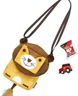 DLSEEGO Cute Toddler Crossbody Bag for Baby 1-8 Years, Brown (Brown) - 2