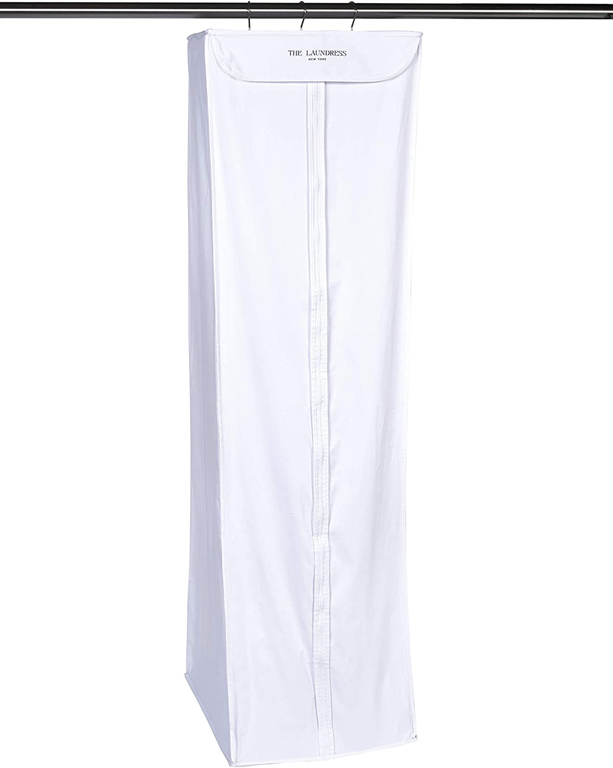 The Laundress - Hanging Coat & Gown Storage Bag, White, Cotton