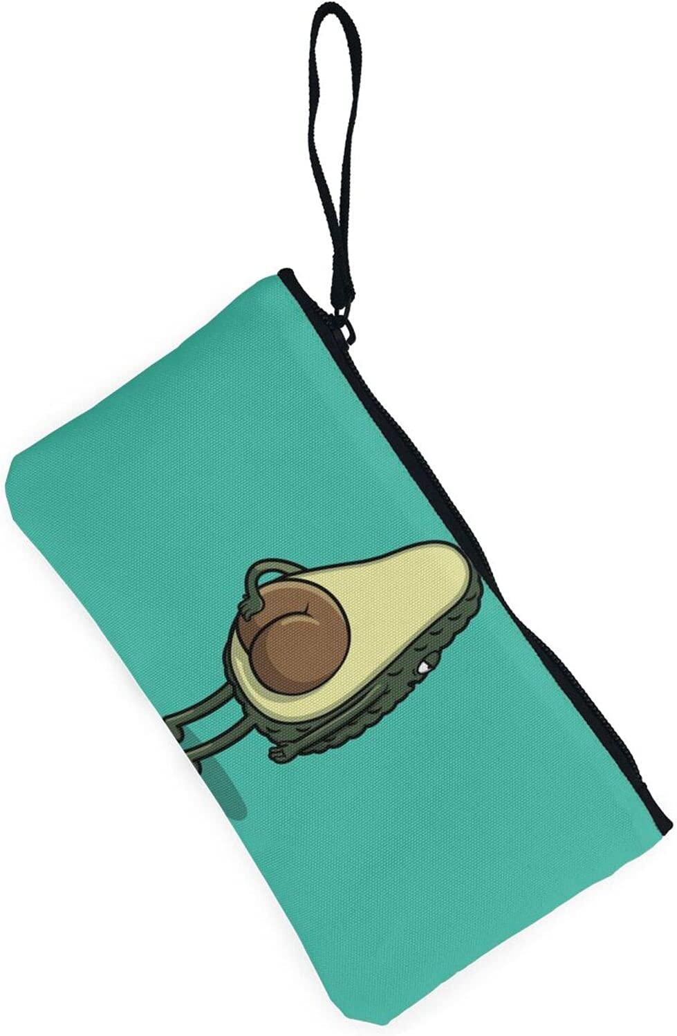 AORRUAM Cute Avocado Anime Canvas Coin Purse,Canvas Zipper Pencil Cases,Canvas Change Purse Pouch Mini Wallet Coin Bag