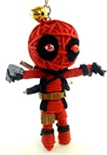 Red Superhero Voodoo String Doll Key Chain Handmade